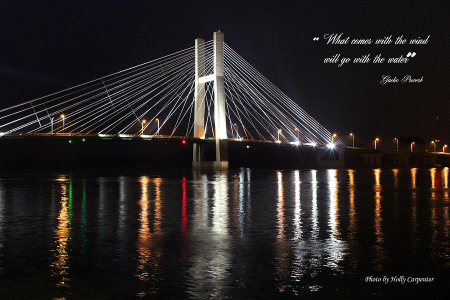 Bridge Photograph - Illuminated Night by Holly Carpenter