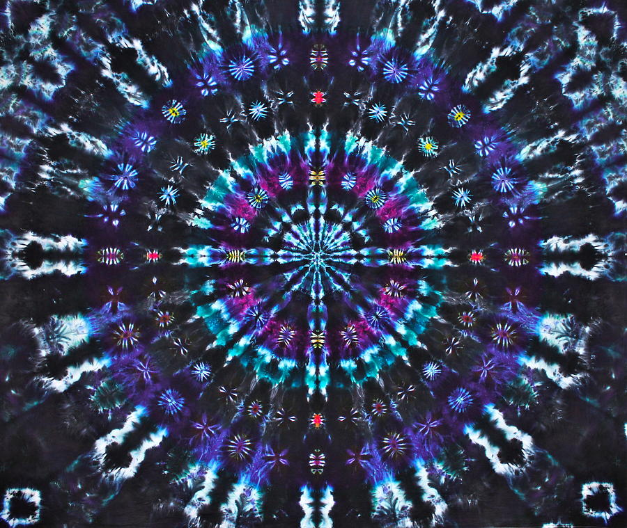 Tie Dye Tapestry - Textile - Illuminating Light by Courtenay Pollock
