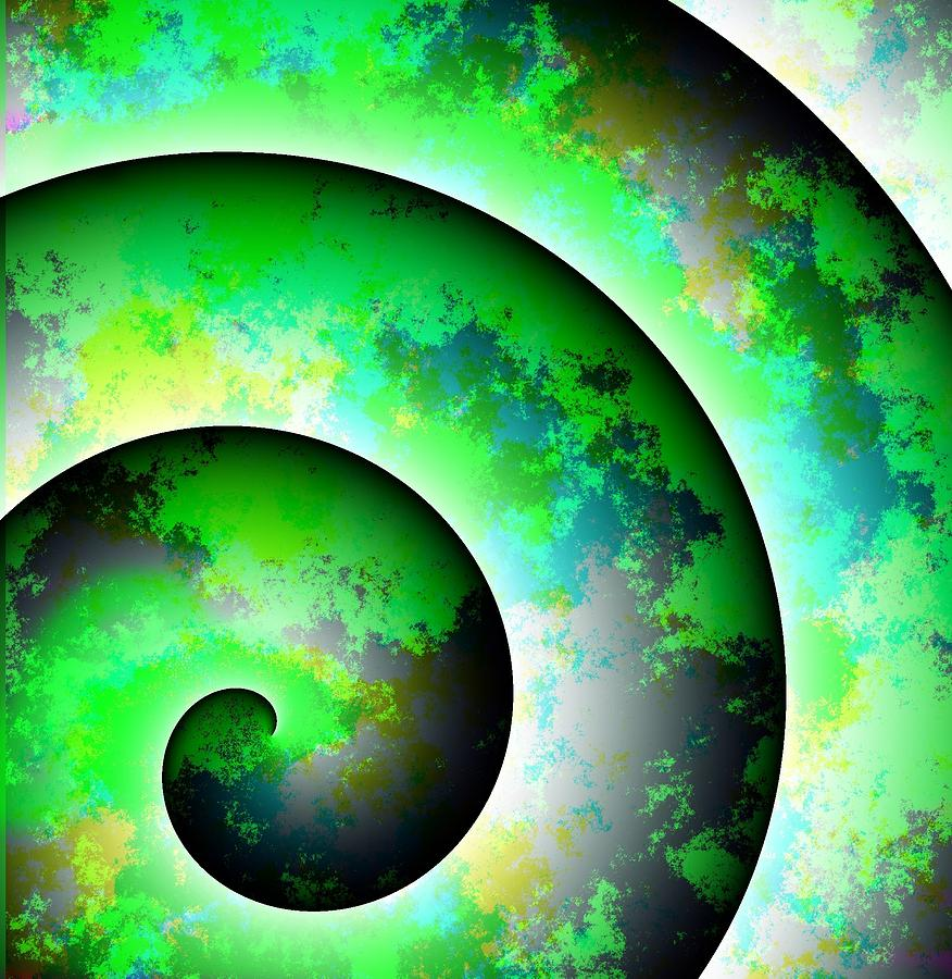 Round Digital Art - Illusion by Cameron Rose