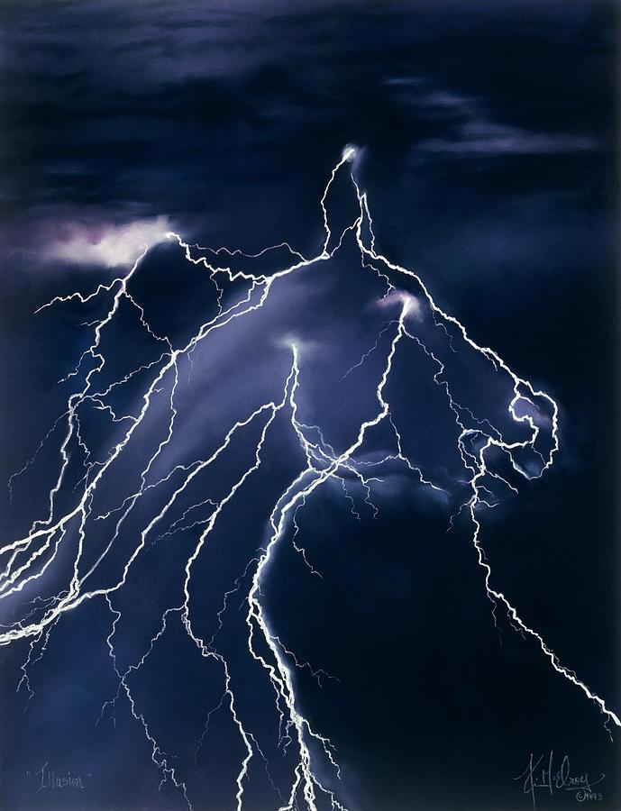 Lightning Storm Pastel - Illusion by Kim McElroy