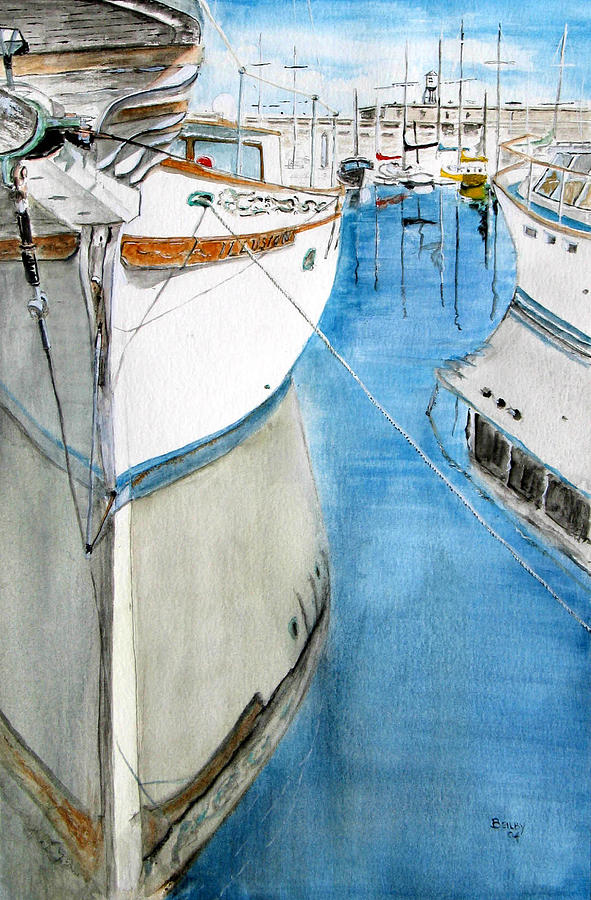 Boat Painting - Illusion by Rob Beilby
