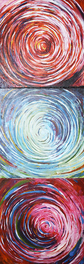 Spirals Painting - Illusions by Monica Veraguth