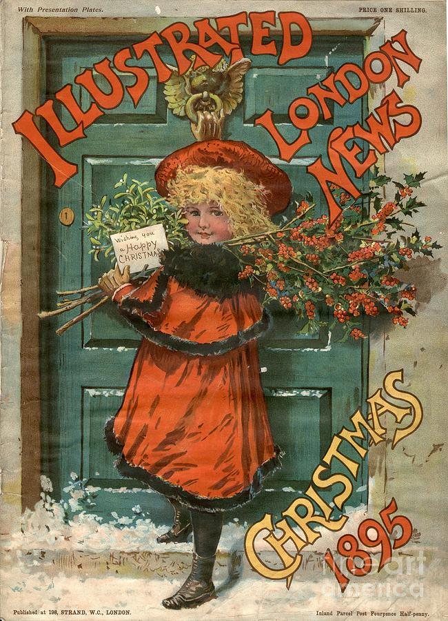 1890s Drawing - Illustrated London News 1890s Uk Holly by The Advertising Archives