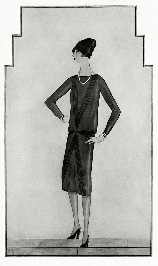 First Little Black Dress By Chanel Digital Art by Bocher