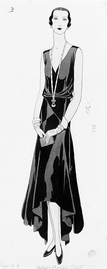 Illustration Of A Woman Wearing A Dress Digital Art by Douglas Pollard