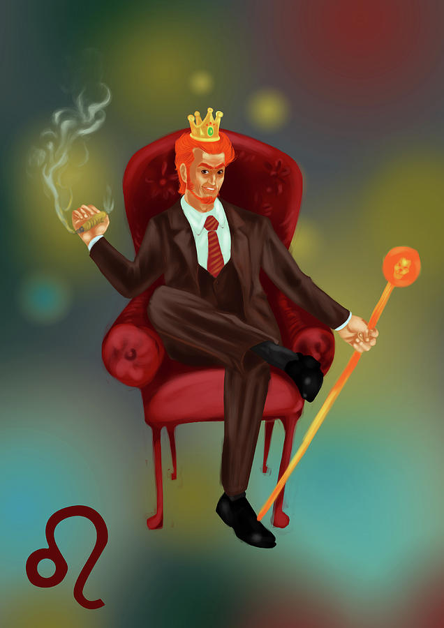 Adult Photograph - Illustration Of Characteristic Of A Leo Businessman by Fanatic Studio / Science Photo Library