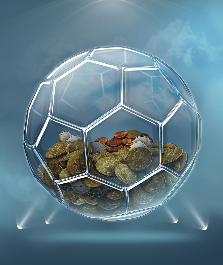 Illustration Of Coins Inside Transparent Ball by Fanatic Studio / Science  Photo Library