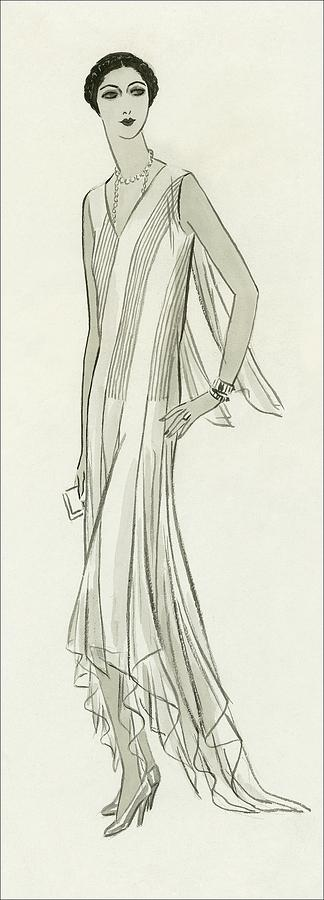 Illustration Of Mlle. Patino Wearing A Dress Digital Art by Creelman