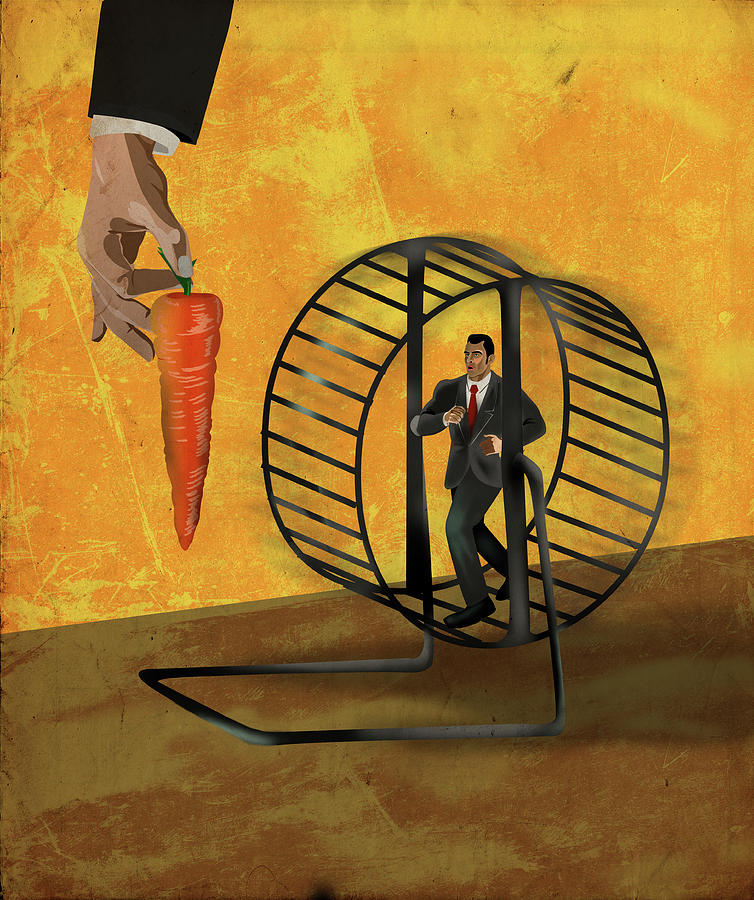 Aiming Photograph - Illustration Of Struggle For Incentives by Fanatic Studio / Science Photo Library