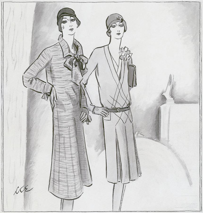 Illustration Of Two Women Digital Art by Creelman