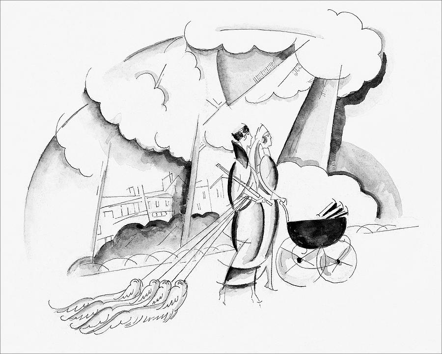 Illustration Of Two Women Digital Art by John Barbour