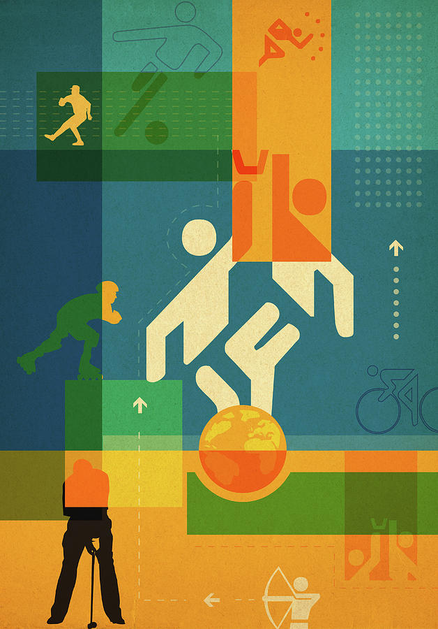 Action Photograph - Illustration Of Various Sports by Fanatic Studio / Science Photo Library