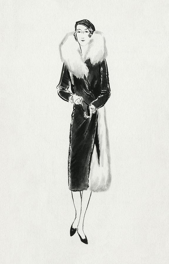 Illustration Of Vicomtesse De Noailles Digital Art by Rene Bouet-Willaumez