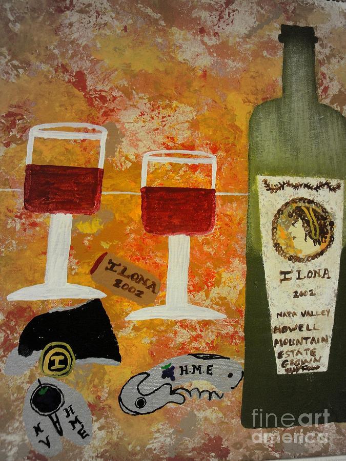 Wine Lovers Mixed Media - Ilona Wine by Dori Meyers