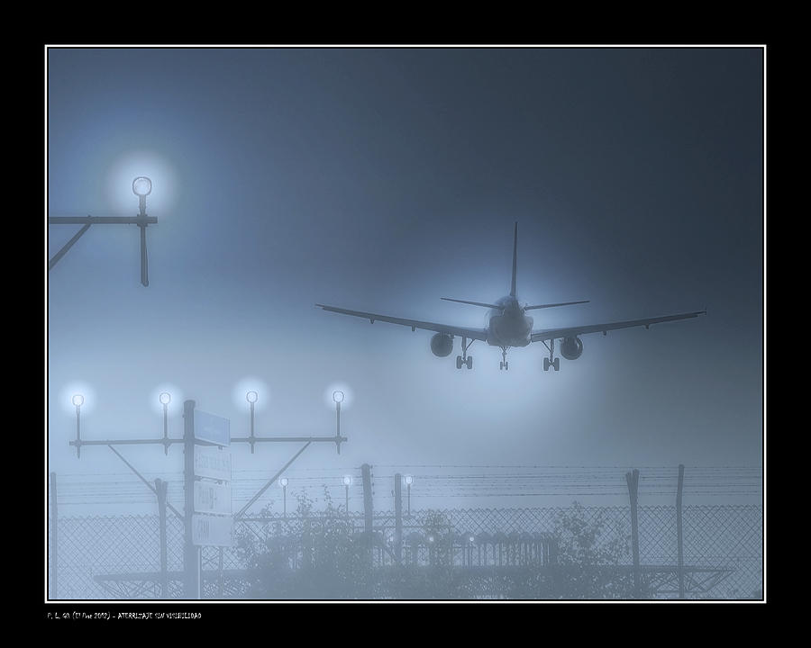 Aircraft Photograph - Ils Landing by Pedro L Gili