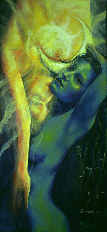 Fantasy Painting - Ilussion In The Mirror by Dorina  Costras