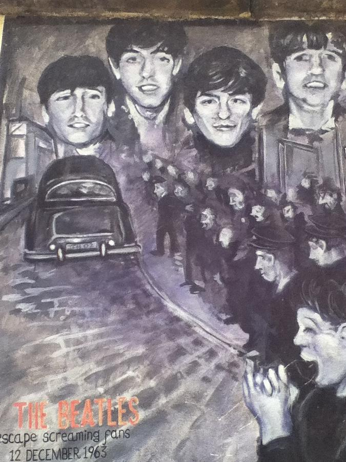 Beatles Painting - Im looking through you by Anthony Moorhouse