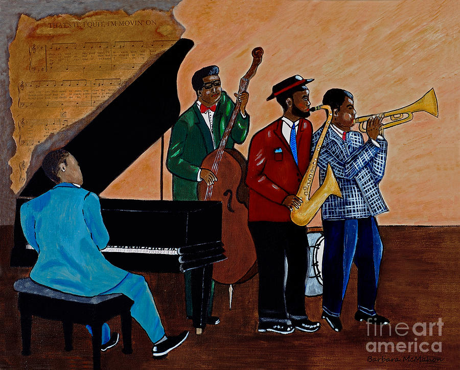 Jazz Painting - Im Moving On by Barbara McMahon
