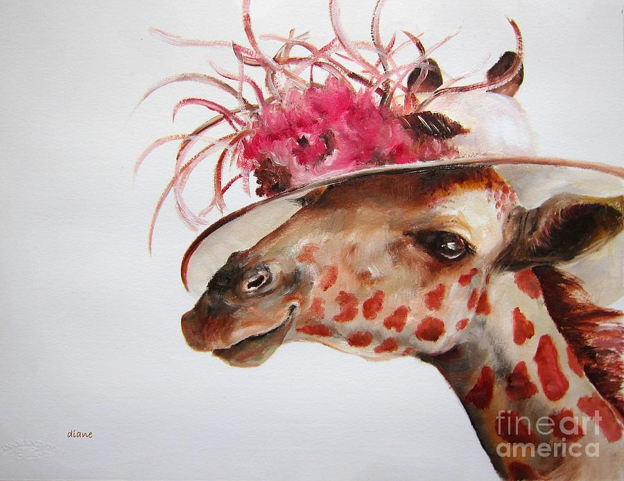 Animals Painting - Im So Pretty by Diane Kraudelt