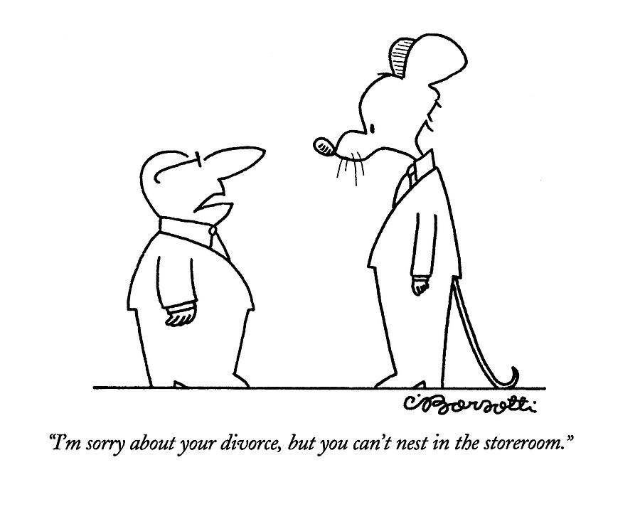 Im sorry about your divorce by charles barsotti im sorry about your divorce drawing by charles barsotti altavistaventures Images