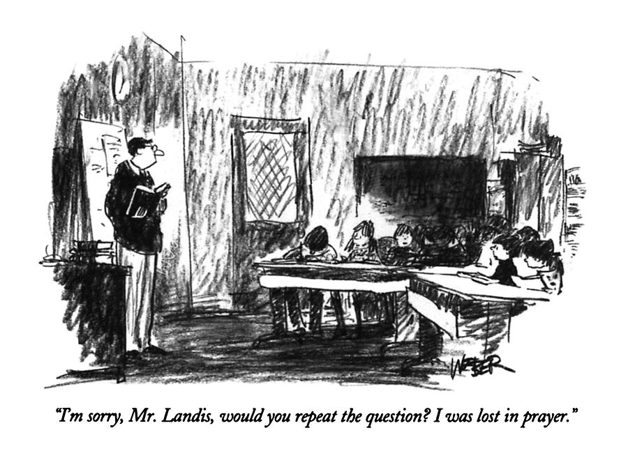 Im Sorry, Mr. Landis, Would You Repeat Drawing by Robert Weber