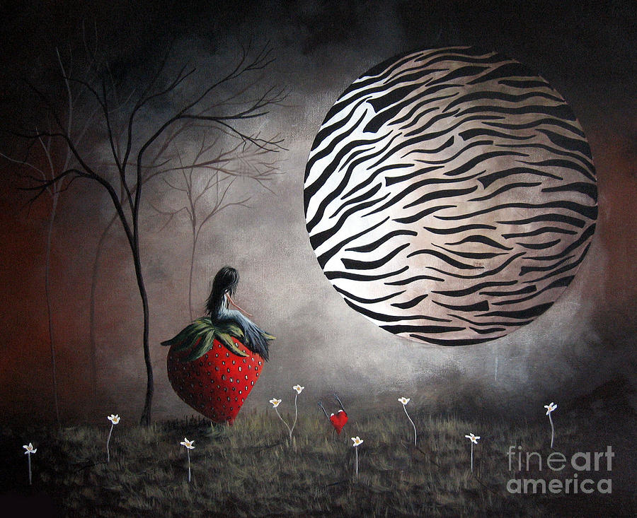 Surreal Painting - Im Your Huckleberry By Shawna Erback by Shawna Erback