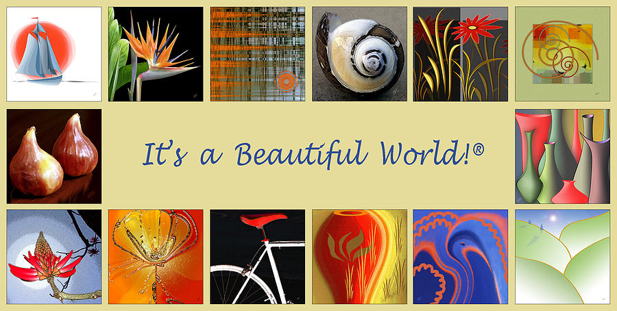 Promotional Digital Art - Image Mosaic - Promotional Collage by Ben and Raisa Gertsberg