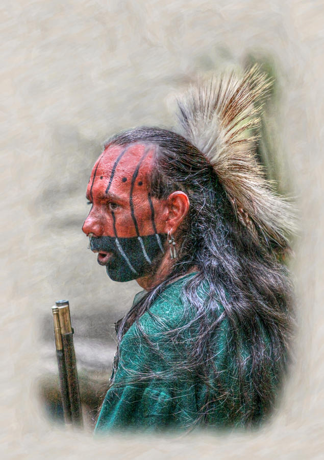 Images Of Cook Forest Native American Warrior Portrait Digital Art By Randy Steele
