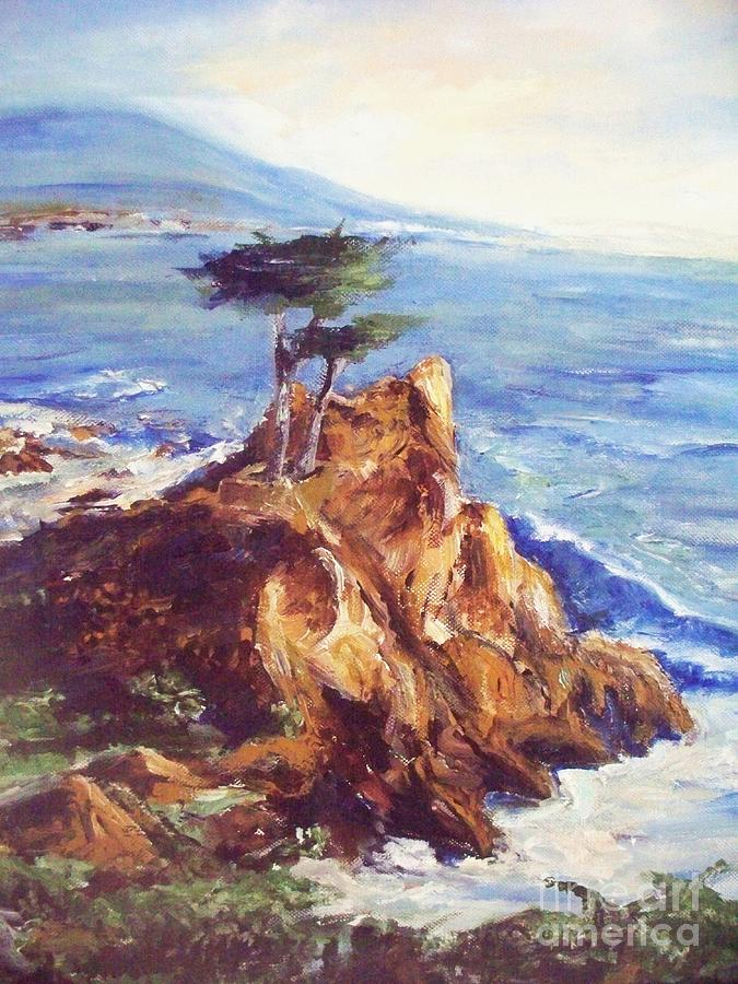 Seascape Painting - Imaginary Cypress by Eric  Schiabor