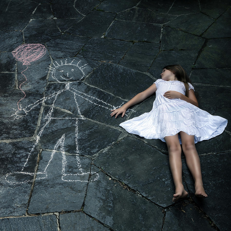 Girl Photograph - Imaginary Friend by Joana Kruse