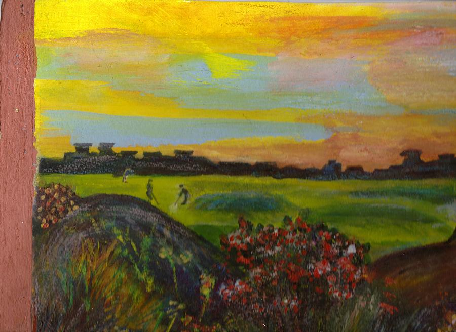 Golf Course Painting - Imaginary Golf Course by Anne-Elizabeth Whiteway