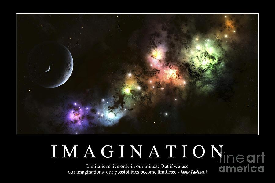 Imagination Inspirational Quote Digital Art By Stocktrek