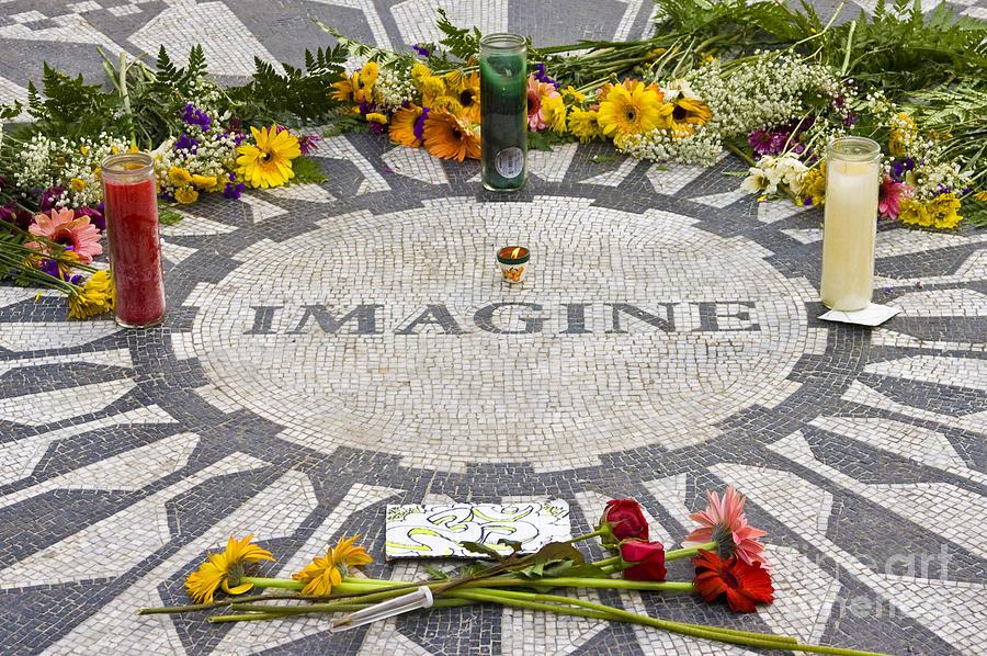 John Lennon Photograph - Imagine by Anthony Sacco