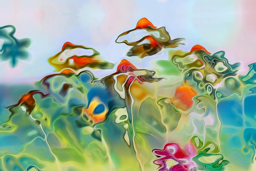 Daisies Digital Art - Imagine - Frc01v6 by Variance Collections