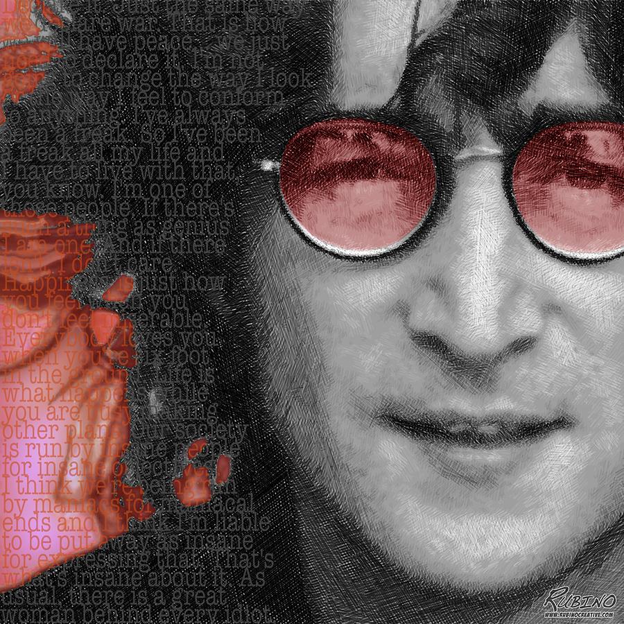 John Lennon Painting - Imagine John Lennon Again by Tony Rubino