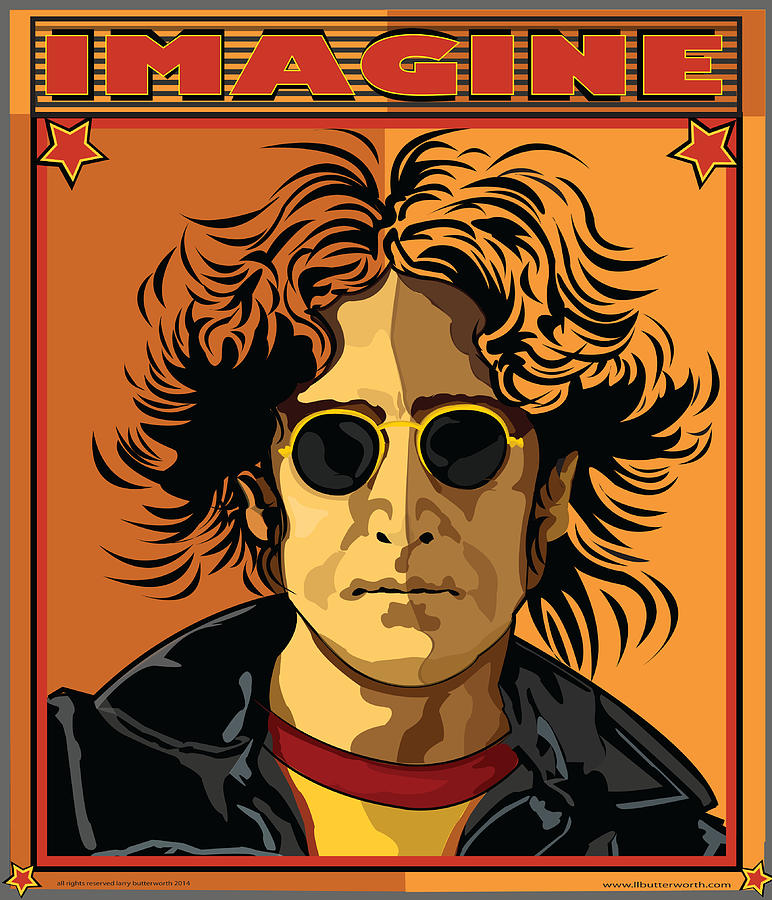 John Lennon Digital Art - Imagine by Larry Butterworth