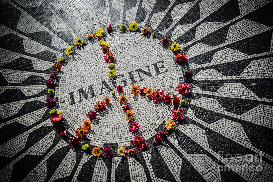 John Lennon Photograph - Imagine Peace by Stacey Granger