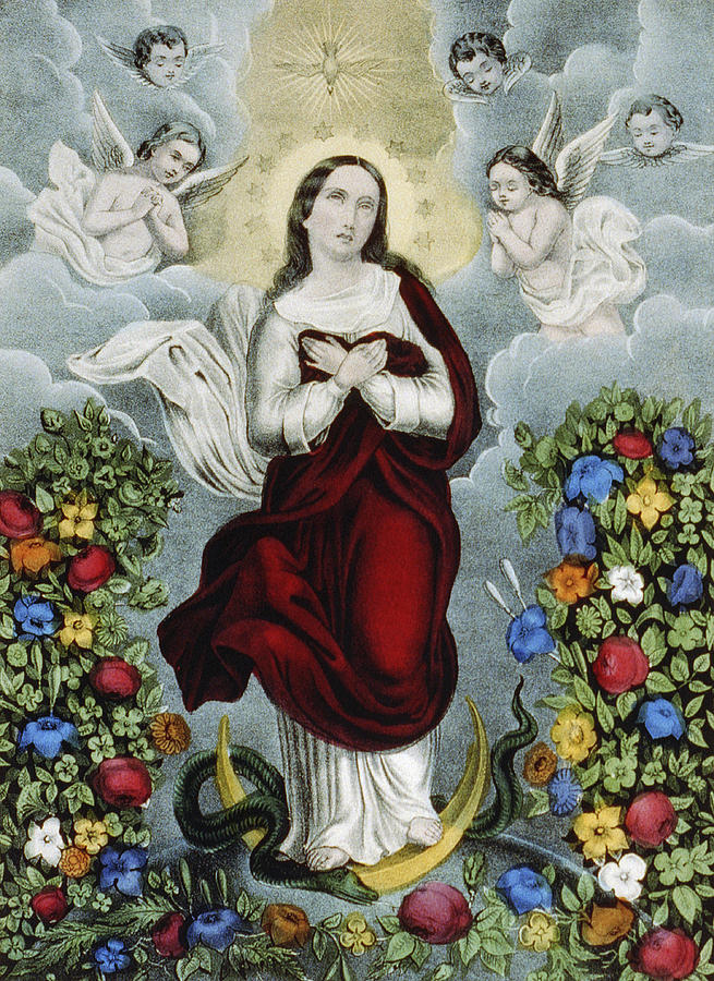 Artwork Painting - Immaculate Conception Circa 1856  by Aged Pixel