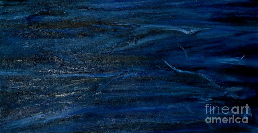 Abstract Painting - Immense Blue by Silvana Abel