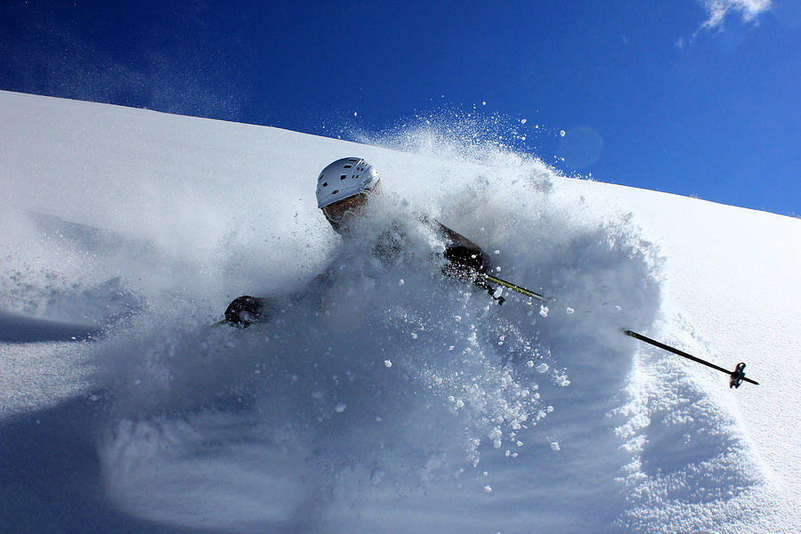 Snow Photograph - Immersed in Powder by Johnny Adolphson