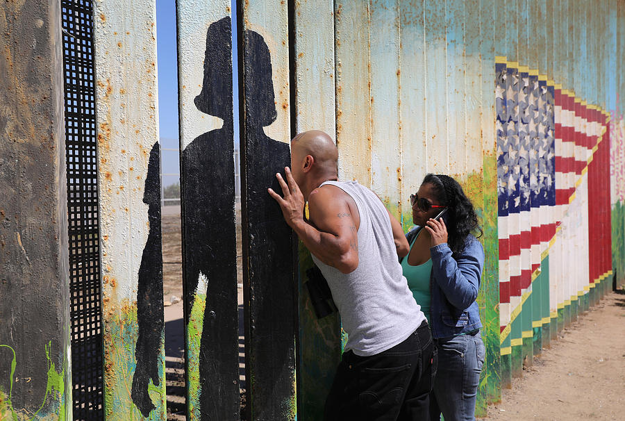 Immigration And Border Security Issues Loom Heavy In Upcoming U.S. Elections Photograph by John Moore
