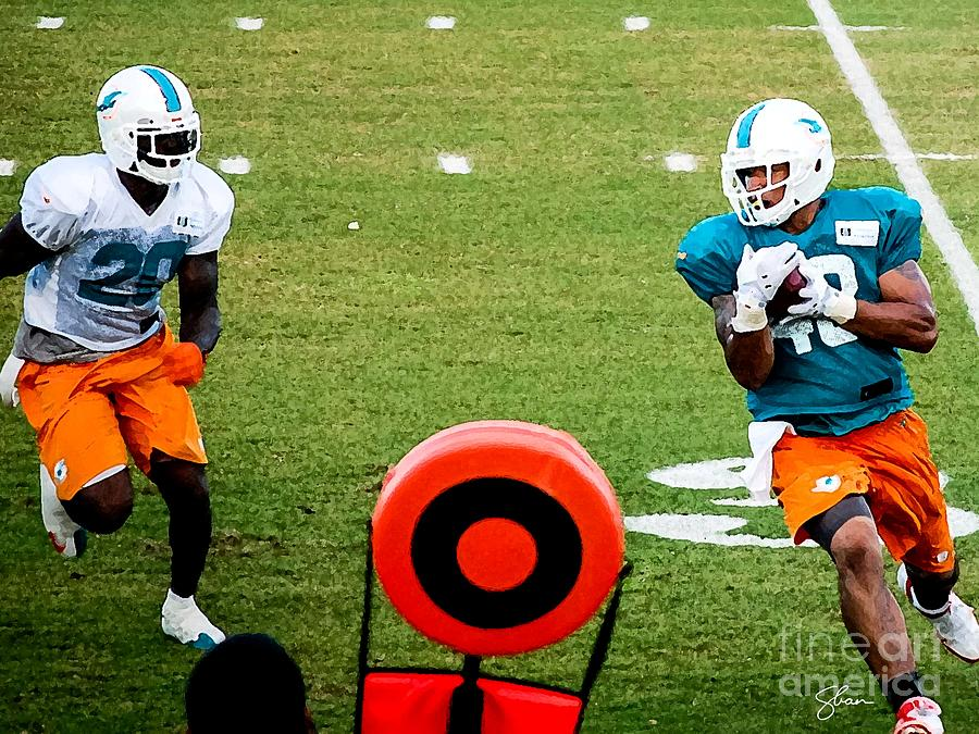 Miami Dolphins Photograph - Imminent Contact by Shawn Lyte