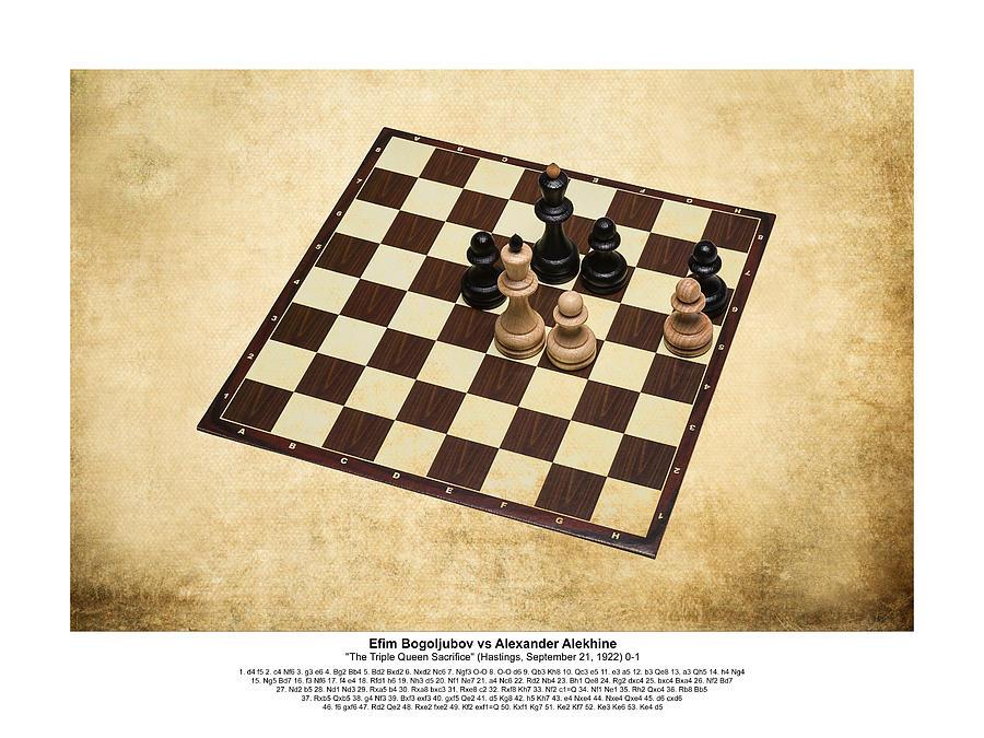 Immortal Chess - Bogoljubov - Alekhine 1922 - Moves