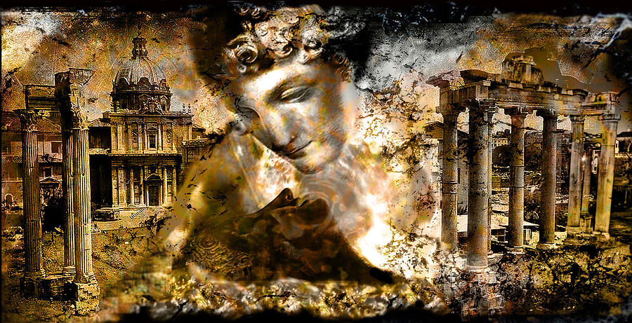Roman Forum Digital Art - Immortality   Part Two... by Anastasios Aretos