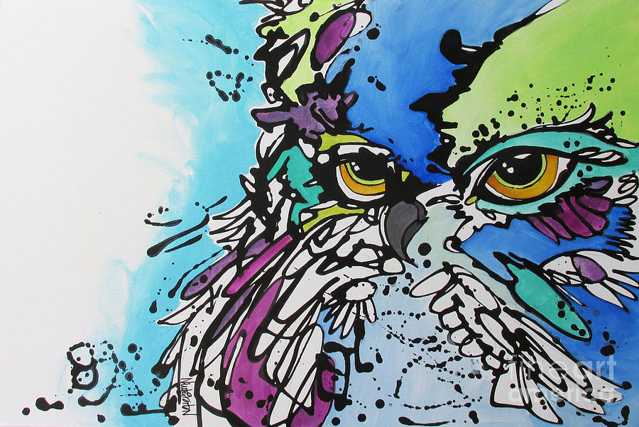Owl Painting - Immutable by Nicole Gaitan