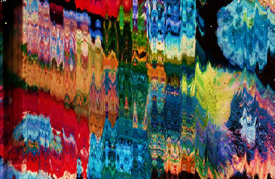 Mixed Media.abstract Painting - Impact Of Colors And Geometrics by Anne-Elizabeth Whiteway