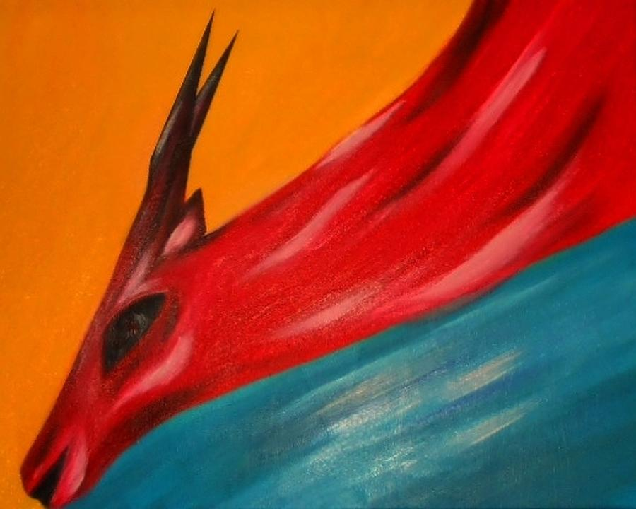 Nature Painting - Impala In Red by Joseph Ferguson