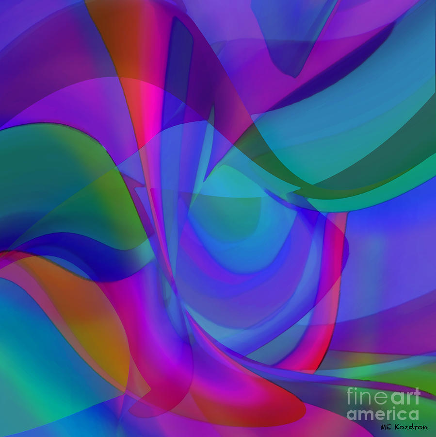 Abstract Digital Art - Impassioned by ME Kozdron