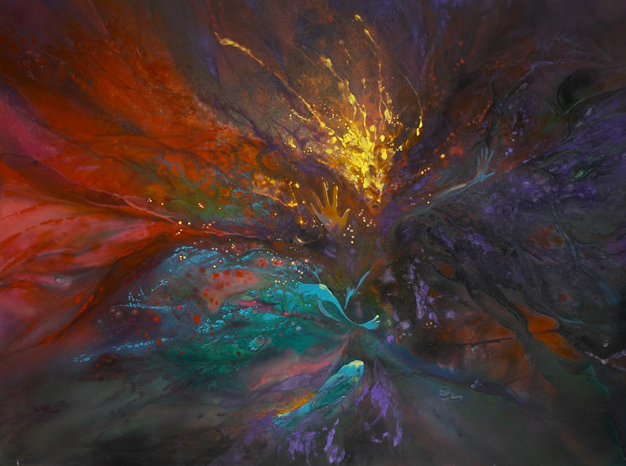 Faeries Painting - Impatiens Explosion by Lynette Yencho