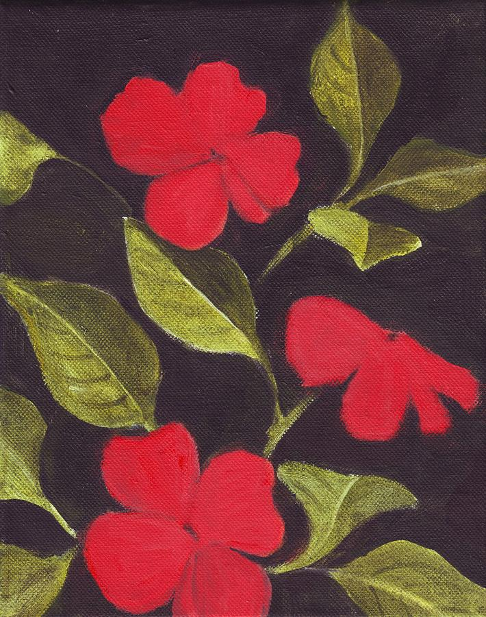 Flower Painting - Impatiens by Mary Adam